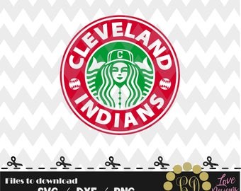 Cleveland Indians coffee svg,png,dxf,shirt,jersey,baseball,college,university,decal,proud mom,disney,softball,college,starbucks,ncaa,svg