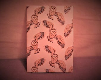Cute owl sketch book/note pad
