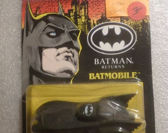 Batman Returns Batmobile. Black Die-Cast Metal. ERTL 1992