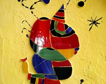 Inspired by J.miro glass mosaic