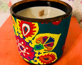Handmade Indian Paper Hand Poured Soy Candle (Jumbo)
