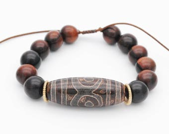 Mala Bracelet,Wood Beaded Bracelet, Men Bead Bracelet,  Bracelet For Men, Wooden Bracelet, Wood Bead Bracelet, Yoga Bracelet