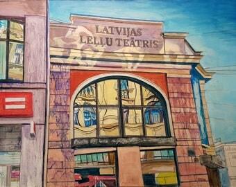 Never? Oil Painting Original By Professional Artist Emils Kristians Muzikants