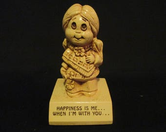 PAULA Figurine - Happiness Is Me...  When I'm With You...  - 1972 - W-254  Happiness is Me When I'm With You