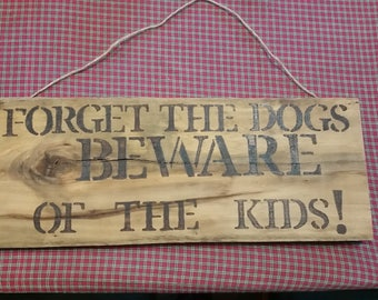 Rustic wood burnt signs
