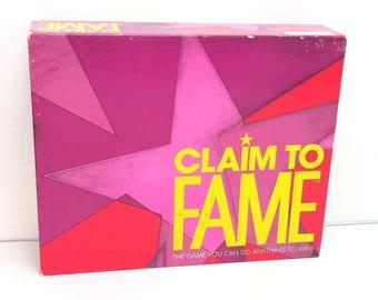 Vintage 1990 Parker Brothers Claim To Fame Board Game