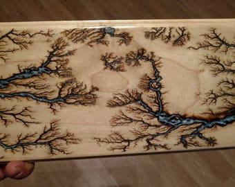 fractal burnt wood art