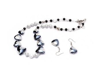 DANIELA - Murano Glass Hand-Made, Two-Piece Jewelry Set