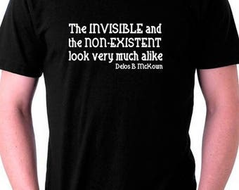 Atheist Tshirt quote by Delos B. McKown