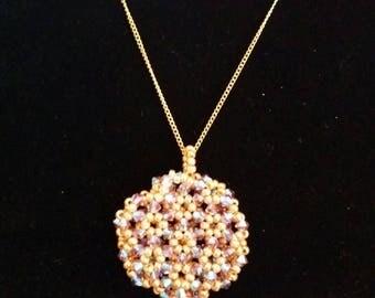Swarovski Topaz three-dimensional necklace