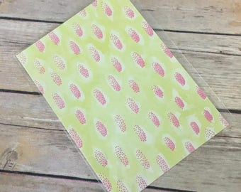 Pink Drops Card with Envelope