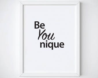 Be You Nique Print Poster