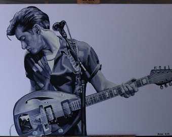 Alex Turner from Arctic Monkeys painting