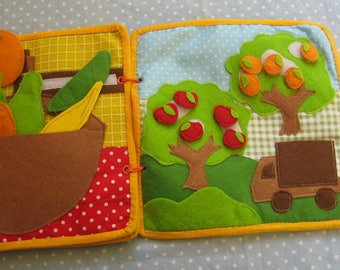Quiet A garden game, A garden, Felt  Animals Learning Toy,  Gift for Kid, game for ages 2-5