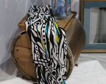 Silk scarf sarong wrap...