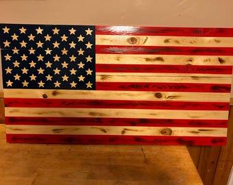 American Flag(Solid Wood)