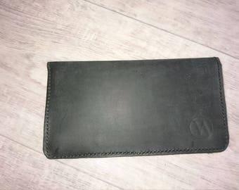 Classic black wallet handmade