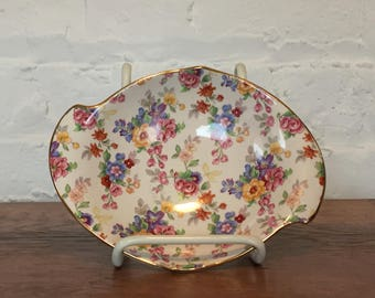 "Royal Winton ""Cotswold"" Chintz Candy Dish"