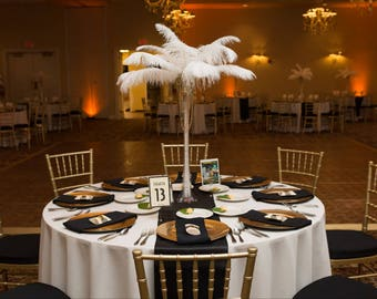 Black satin table runners