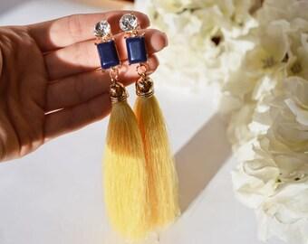 Suncrisp Skies Tassel Earrings by Betassled
