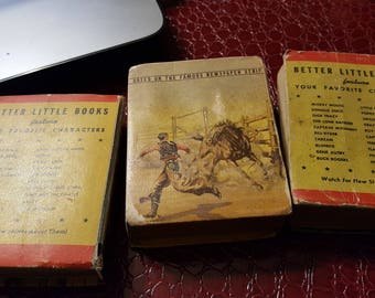 Set of 3 better little books-Captain Midnight,Red RYDER and Bronc Peeler
