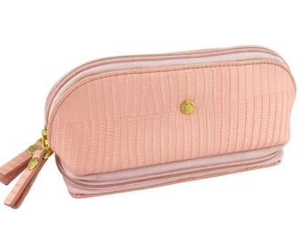 Cosmetic Jewel Traveller- Pink Lizard