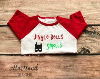 Jingle Bells Batman Smells Shirt- Jingle Bells Shirt- Christmas Shirt