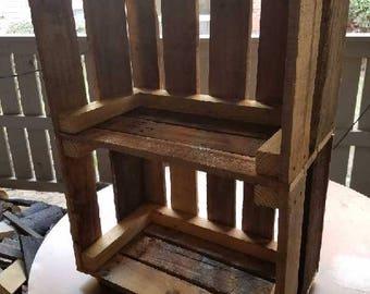 Reclaimed pallet wood LP Album stand