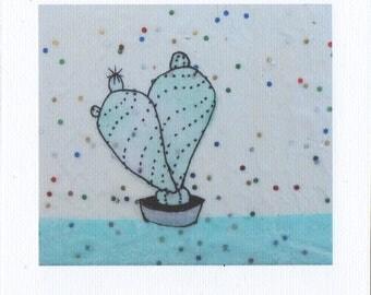 Glitter cactus print