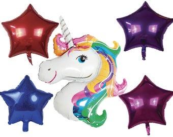 Rainbow Unicorn Balloon- Large Size