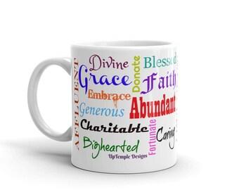 Postive Words on a Mug 2 in Color Print