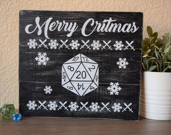 Merry Cristmas 10.5x12 sign - D&D, tabletop gaming