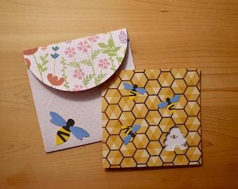Handmade Bumble Bee Card