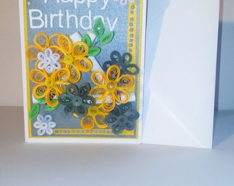 "Quilling ""happy birthday"" card"