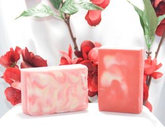 Hugs and Kisses, Valentine's Day, Goat Milk Soap, Homemade