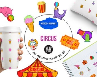 Circus svg, png, eps, dxf, psd, ai cut file