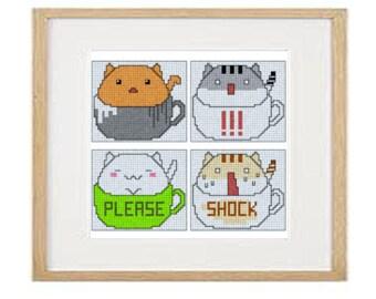 Cats 04 cross stitch pattern (download PDF)