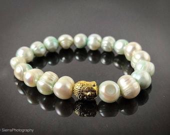 Freshwater Pearl, Peal Zen Bracelet,  Yogi Bracelet