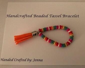 Handcrafted Beaded Tassel Bracelet