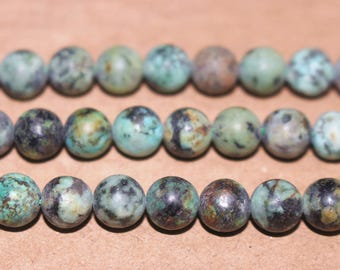 15 inches Full strand,Africa Turquoise  matte round beads 6mm 8mm 10mm 12mm,loose beads,semi-precious stone