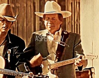 Buck Owens & Dwight Yoakum playing guitar/singing