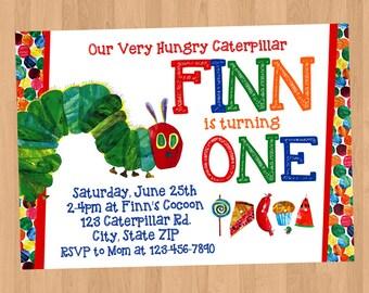 Very Hungry Caterpillar Birthday Invitation DIY Printable