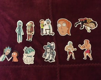 Rick and Morty Stickers lot of 10