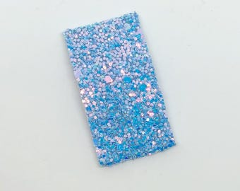 Cotton Candy Flat Snap Clip - Chunky Glitter - Snap Clips - 50mm Clips -