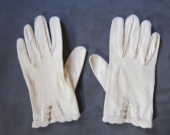 Vintage 1940's Kayser Church Gloves, Women's size 7