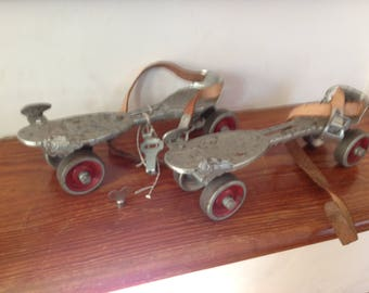 Classic 1930's roller skates - wonderful/aged condition