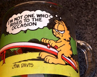 McDonald's Garfield Mug - Vintage 1980 - I'm Not One Who Rises To the Occasion