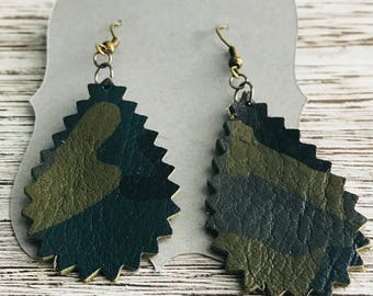 NEW LOOK** Genuine Leather Teardrop Earrings