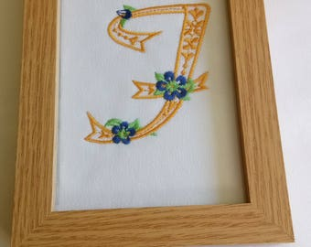 Framed Embroidered F