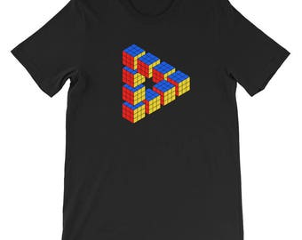 Cube illusion Short-Sleeve Unisex T-Shirt